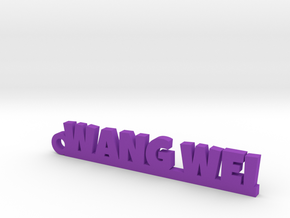 WANG WEI_keychain_Lucky in Purple Processed Versatile Plastic