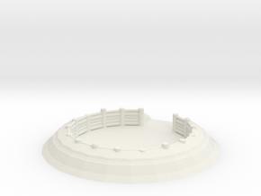 Gun Emplacement 1/76 in White Natural Versatile Plastic