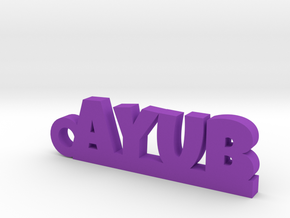 AYUB_keychain_Lucky in Purple Processed Versatile Plastic