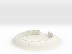 Gun Emplacement 1/56 in White Natural Versatile Plastic
