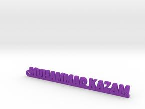 MUHAMMAD KAZAM_keychain_Lucky in Purple Processed Versatile Plastic
