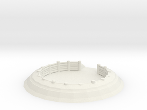 Gun Emplacement 1/48 in White Natural Versatile Plastic
