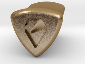 Stretch Logo 5 By Jielt Gregoire in Polished Gold Steel