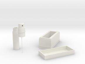 Epidemic prevention storage box in White Natural Versatile Plastic: Small