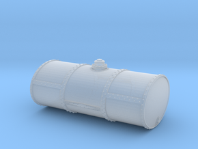 S Scale Singe Cell Fuel Tank (End Drain) in Smooth Fine Detail Plastic