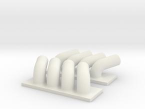 Drag Headers in White Natural Versatile Plastic