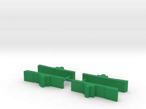 WW2 Cargo Ship Meeple, 4-set in Green Processed Versatile Plastic