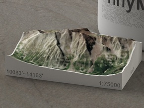 Maroon Bells, Colorado, USA, 1:75000 in Natural Full Color Sandstone