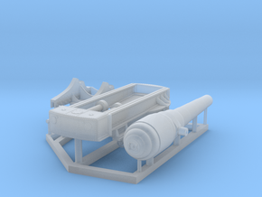 Armstrong 100-Ton Gun, 1/192 scale in Smooth Fine Detail Plastic