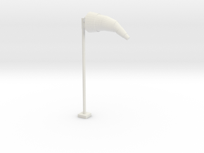 Airport Windsock and Pole 1/35 in White Natural Versatile Plastic
