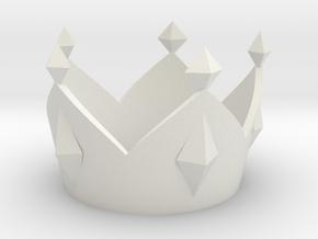 Mario King Boo Crown (Costume Size) in White Natural Versatile Plastic