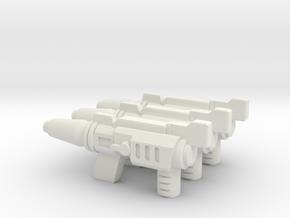 TF TR Legends Shark Con blaster 3 pack in White Natural Versatile Plastic