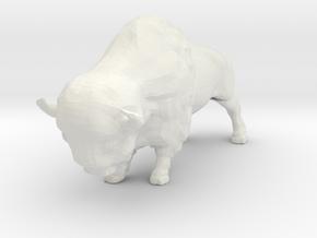 N Scale Bison in White Natural Versatile Plastic