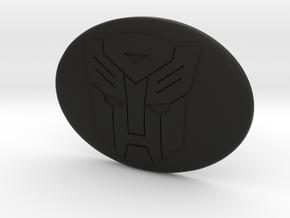 Toyota steering wheel emblem overlay Autobot in Black Premium Versatile Plastic