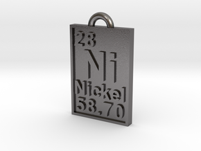 Nickel Periodic Table Pendant in Polished Nickel Steel
