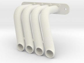 Axial SMT-10 Exhaust Header DP-00 (Left) in White Natural Versatile Plastic