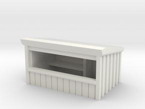 Wooden Market Stall 1/120 in White Natural Versatile Plastic