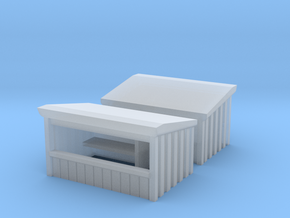 Wooden Market Stall (x2) 1/200 in Smooth Fine Detail Plastic