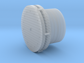 Large Wire Rope Reels 1-87 HO Scale in Smooth Fine Detail Plastic