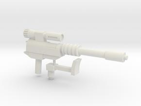 Transformers G1 Megatron blaster Siege Compatable in White Natural Versatile Plastic