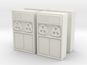 Old Computer Bank (x4) 1/100 in White Natural Versatile Plastic