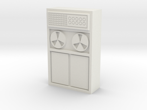 Old Computer Bank 1/24 in White Natural Versatile Plastic