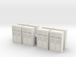 Old Computer Bank (x8) 1/144 in White Natural Versatile Plastic