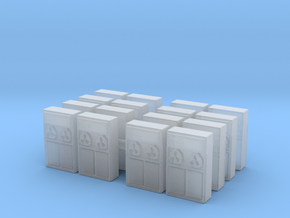 Old Computer Bank (x16) 1/285 in Smooth Fine Detail Plastic