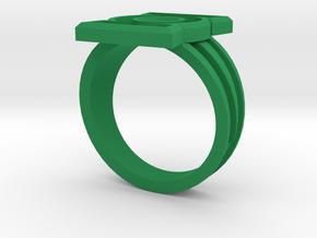 Custom Green Lantern Ring Size 11.25 in Green Processed Versatile Plastic