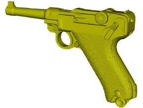 1/12 scale Luger P-08 Parabellum 1908 pistol x 1 in Smooth Fine Detail Plastic