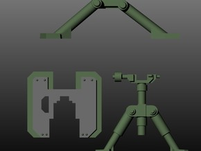 Imperial Heavy Weapon Stands in Smooth Fine Detail Plastic