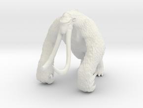 Godzilla Behemoth 3.5inch kaiju monster miniature in White Natural Versatile Plastic