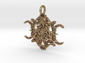 Creator Pendant in Polished Gold Steel