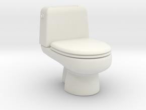 toilet 1/43 in White Natural Versatile Plastic