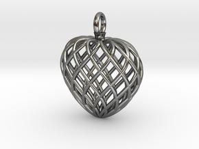 Heart Lattice V2 in Polished Silver