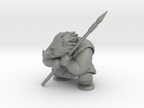 Dragon Quest Orc 44mm miniature fantasy games DnD in Gray PA12