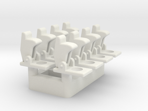 Toggle Switch Cover - Multiples in White Natural Versatile Plastic