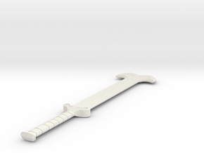 Two handed Sword  in White Natural Versatile Plastic