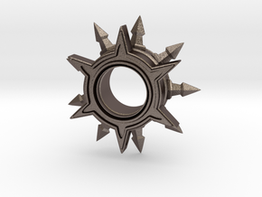 Sunburst Pendant in Polished Bronzed-Silver Steel