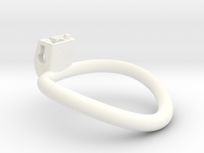 Cherry Keeper Ring - 55x56mm Tall Oval +2° ~55.5mm in White Processed Versatile Plastic