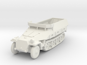Sdkfz 251/18 D Map Table 1/76 in White Natural Versatile Plastic
