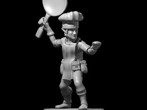 Gnome Chef Fighter in Smooth Fine Detail Plastic