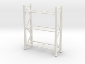 Warehouse Rack 1/64 in White Natural Versatile Plastic