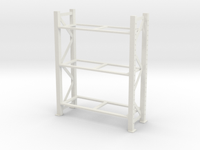 Warehouse Rack 1/12 in White Natural Versatile Plastic