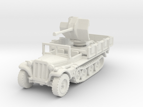 Sdkfz 10/4 B Flak 38 (window up) 1/120 in White Natural Versatile Plastic