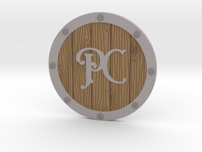 Player Character Drink Coaster in Natural Full Color Sandstone