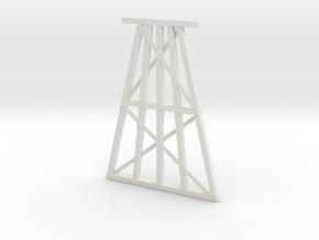Single Track Trestle Bent in White Natural Versatile Plastic