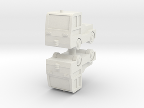 TLD JET-16 Tow Tractor (x2) 1/144 in White Natural Versatile Plastic