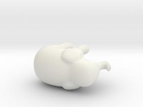 Elephant.obj in White Natural Versatile Plastic
