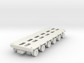 Goldhofer SPMT Modular Trailer 1/120 in White Natural Versatile Plastic